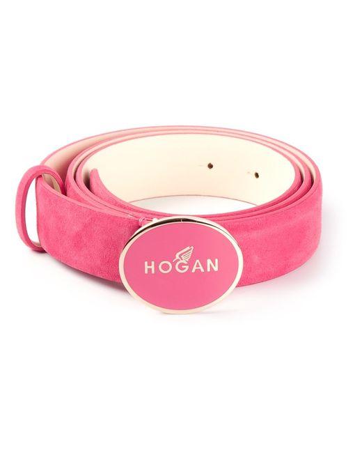 Hogan | Женский Розовый Ремень С Логотипом На Пряжке