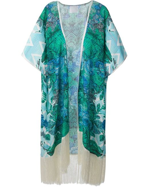 Athena Procopiou | Женское Синее Кимоно Paradiso Mosaico