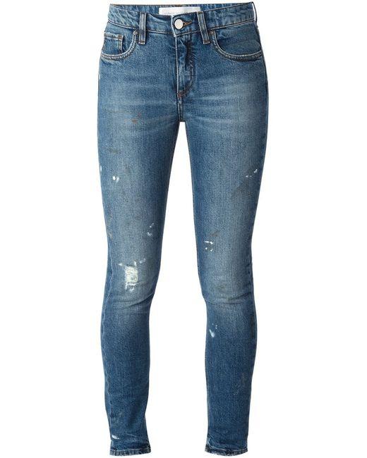 Victoria Beckham Denim | Женское Синий Stretch Cotton Skinny Jeans From