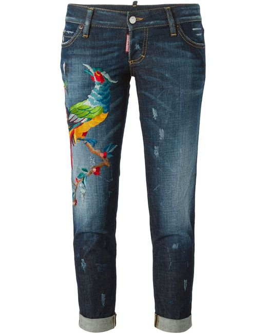 Dsquared2 | Женское Синий Pat Embroidered Jeans