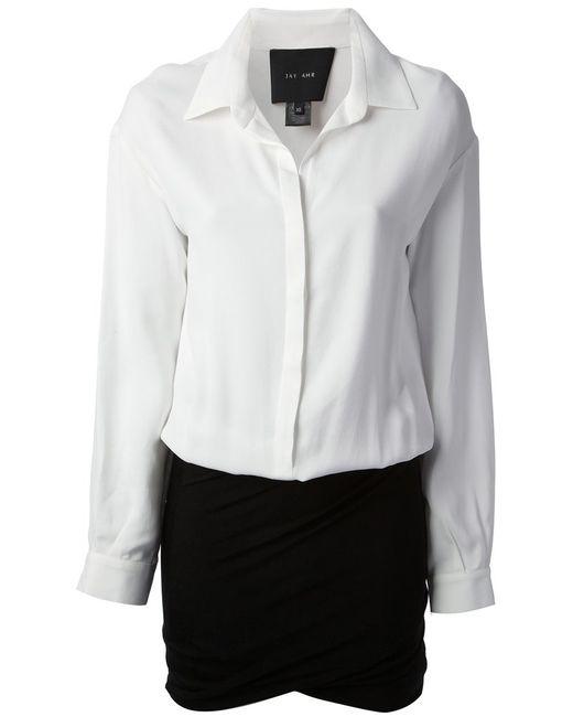 Jay Ahr   Женское Белое Платье-Блузка