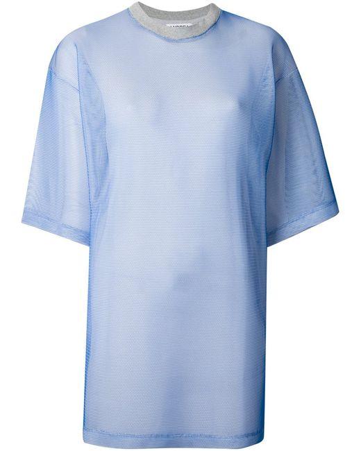 Andrea Crews | Женская Синяя Сетчатая Платье-Рубашка
