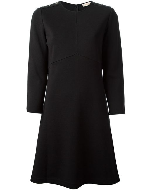 Tory Burch   Женское Чёрное Расклешенное Платье