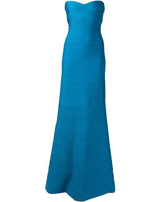 Hervé Léger | Женское Bright Sara Dress From Featuring A Strapless