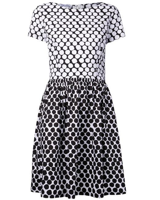 Oscar de la Renta | Женское And Stretch Cotton Dotted Dress From Featuring