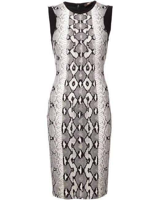Roberto Cavalli | Женское Чёрное Платье-Футляр