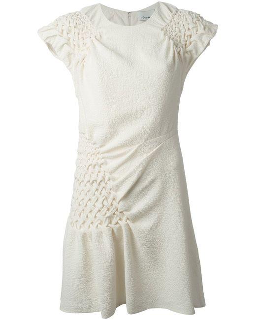 3.1 Phillip Lim | Женское Ivory Silk Blend Smocked Shift Dress From