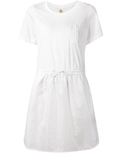 Muveil   Женское Белое Платье На Резинке