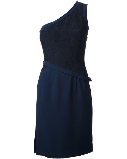 Azzaro | Женское Синий Contrast One-Shoulder Dress