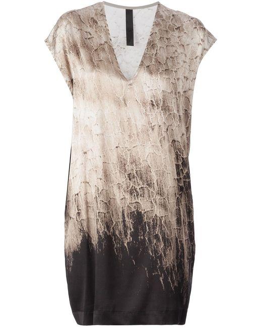 Ilaria Nistri   Женское Silk Blend Distressed Print T-Shirt Dress From
