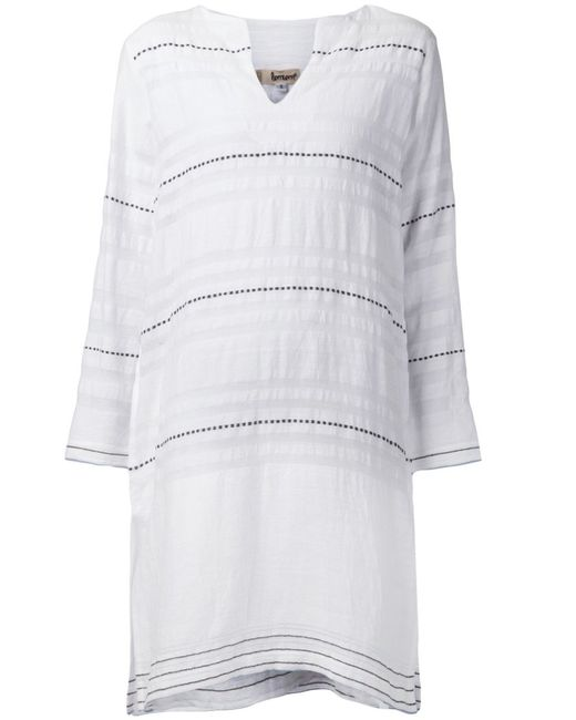 Lemlem   Женское Белый Striped Shift Dress From