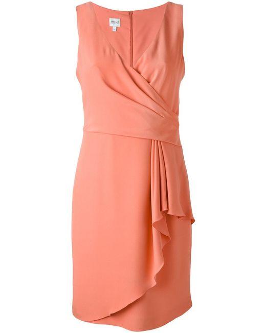 Armani Collezioni | Женское Silk Blend Ruffle Detail Dress From