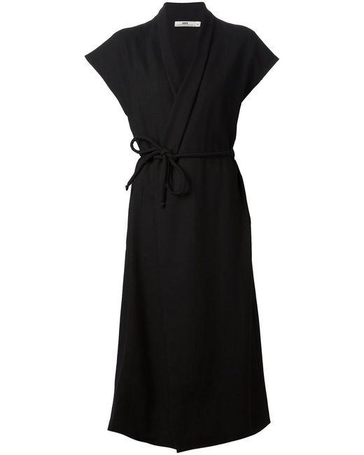 Hope   Женское Чёрный Cotton Wrap Dress From