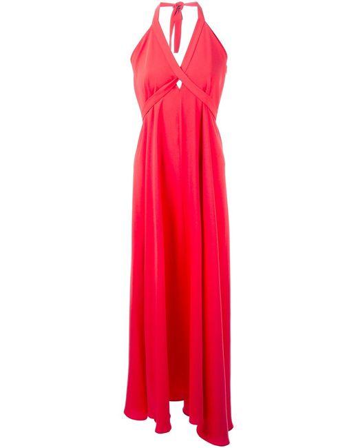 P.A.R.O.S.H.   Женское Poppy Halterneck Maxi Dress From P
