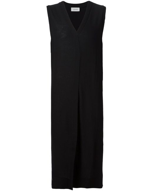LEMAIRE | Женское Чёрный Virgin Wool V-Neck Knitted Dress From Christophe