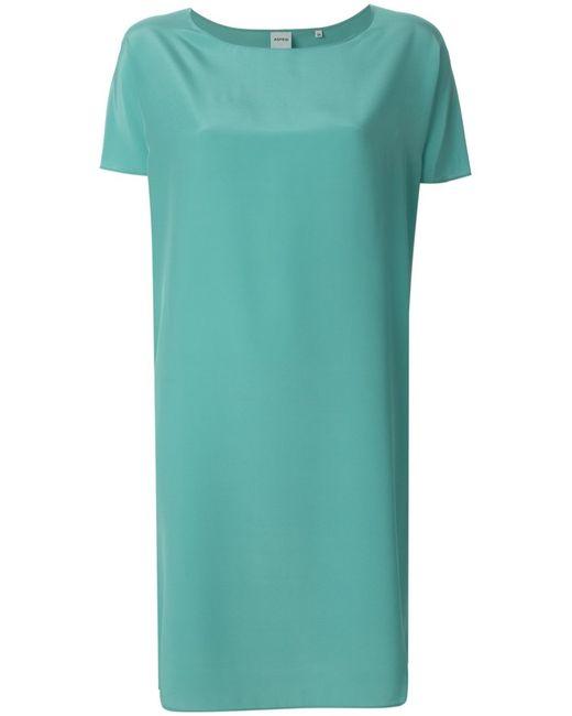 Aspesi   Женское Синий Silk Shift Dress From