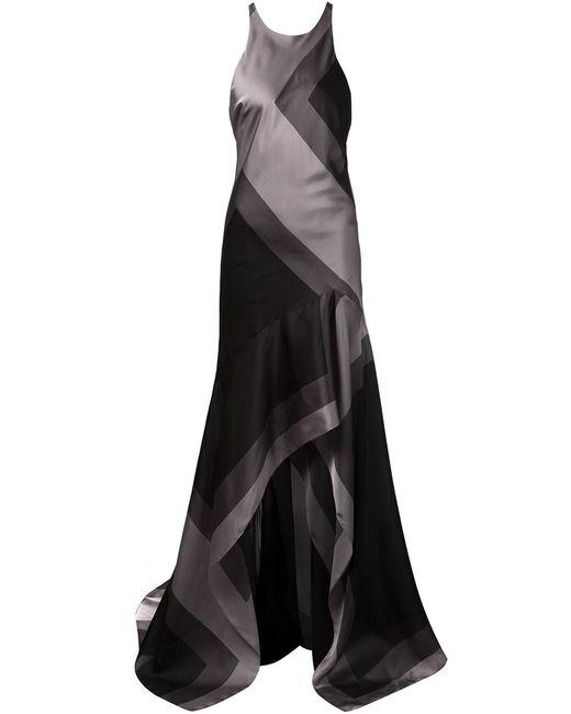 Halston Heritage | Женское Silk Geometric Pattern Dress From