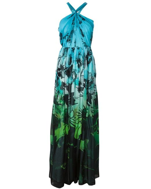 Matthew Williamson | Женское Синий Multicoloured Silk Print Evening Dress From