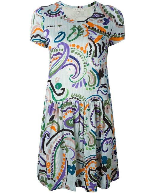 Etro | Женское Зелёный Multicoloured Paisley Print Textured Dress From