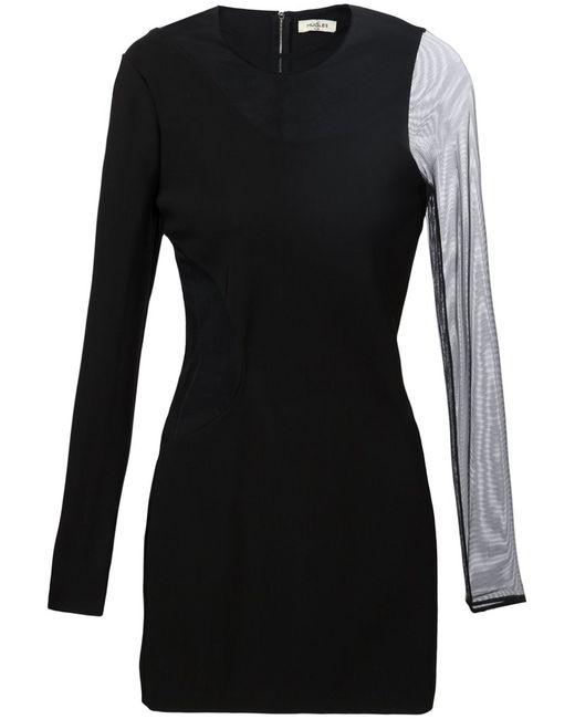 Mugler | Женское Чёрный Sheer Panel Fitted Dress From