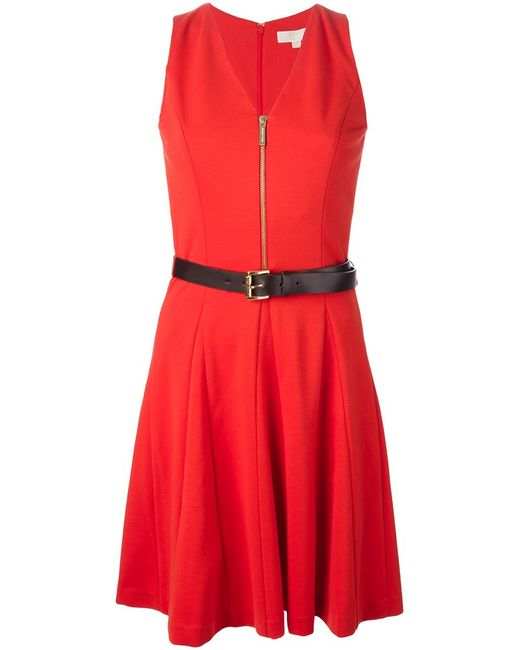 Michael Michael Kors | Женское Belted Zip Front Dress From