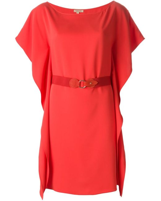 P.A.R.O.S.H. | Женское Красный Draped Sides Belted Dress From P