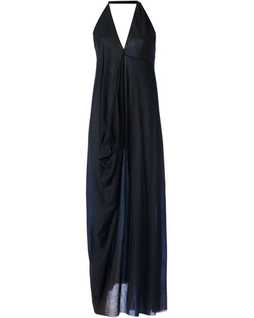LOST AND FOUND | Женское Cotton Draped Halterneck Dress From