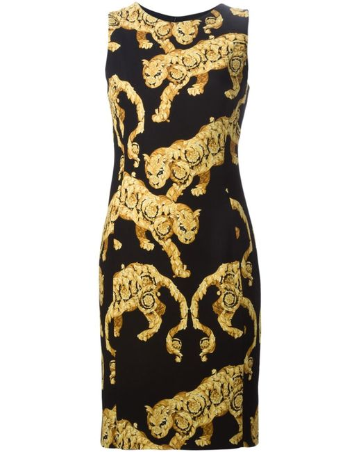 Versace Collection   Женское And Panther Dress From Featuring A Round