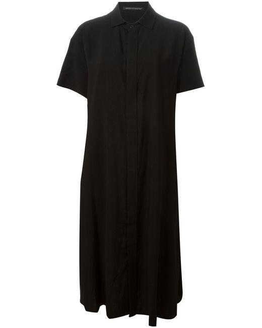 Yohji Yamamoto   Женское Чёрный Relaxed Fit Short Sleeve Dress