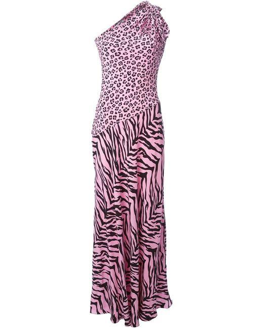 BOUTIQUE MOSCHINO | Женское Розовое Вечернее Платье С Леопардовым Принтом