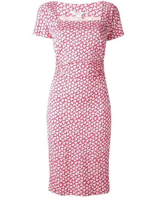Diane Von Furstenberg | Женское Розовое Платье Stasie С Квадратным Вырезом
