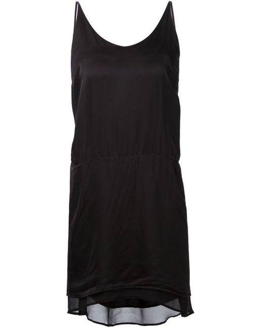 Clu | Женское Чёрный Silk Asymmetric Slip Dress From