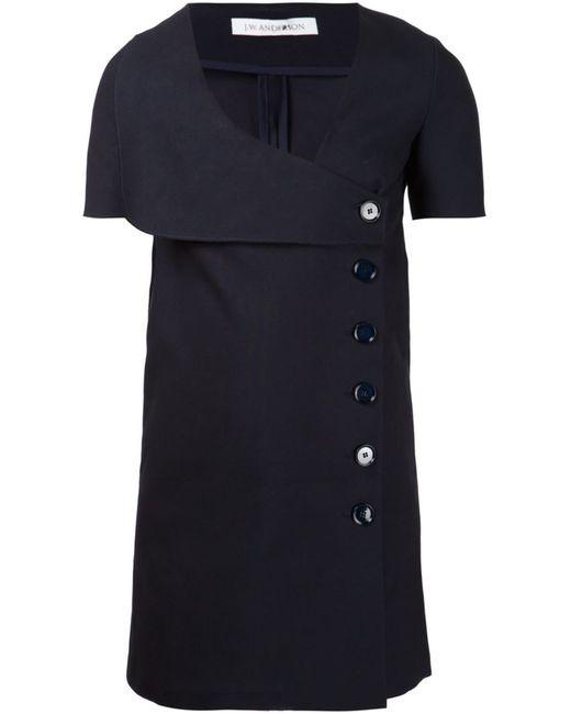 J.W. Anderson | Женское Синий Navy Cotton Button Detail Sailor Dress From