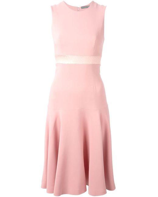 Alexander McQueen | Женское Розовое А-Образное Платье