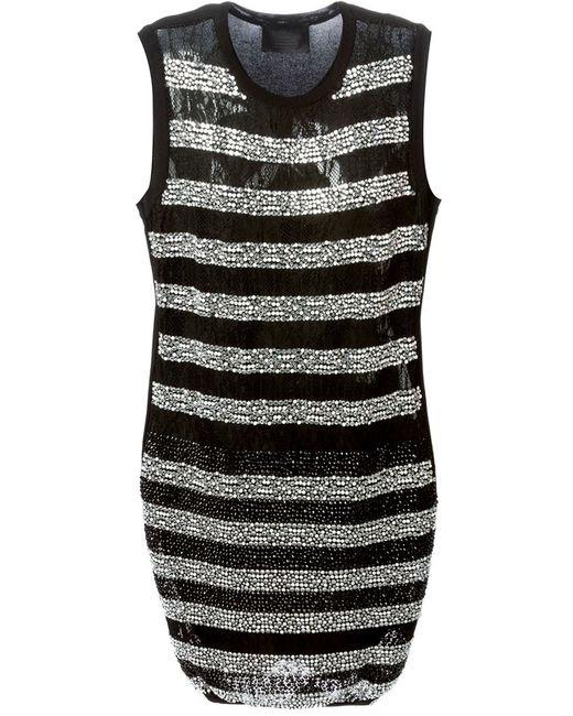 Philipp Plein | Женское Чёрное Платье Readiancy