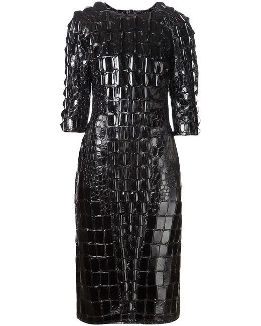 Ktz | Женское Чёрный Scale Effect Embellished Dress From