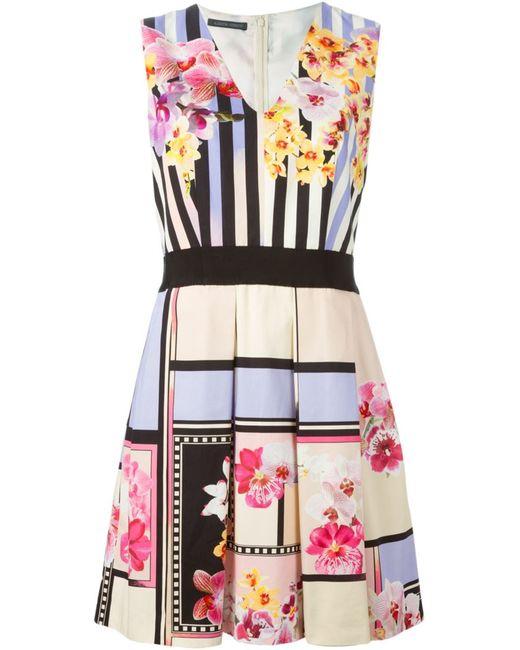 Alberta Ferretti | Женское Cotton Pleated Flared Dress From