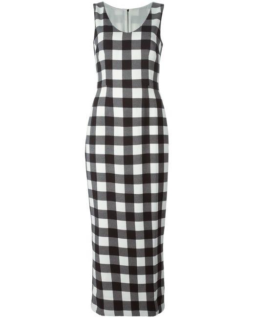 Dolce & Gabbana   Женское And Stretch Silk Blend Long Check Dress