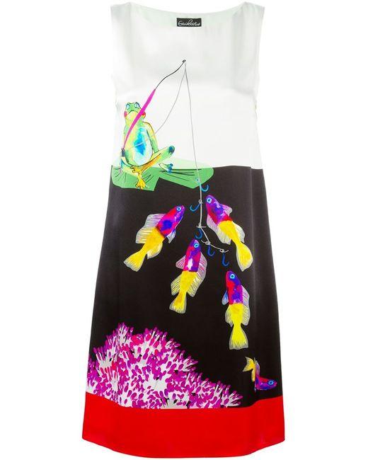 Giulia Rositani | Женское Multicoloured Silk Fishing Print Midi Dress From