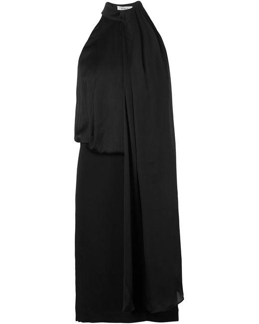 Ports   Женское Чёрное Драпированное Платье Без Рукавов