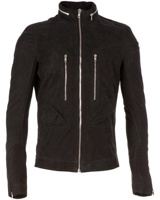 Rick Owens | Мужская Чёрная Куртка На Молнии