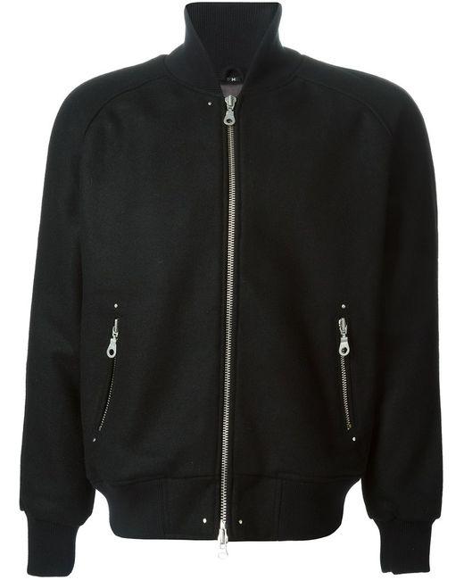 MKI MIYUKI ZOKU | Мужское Чёрный Raglan Sleeve Varsity Jacket