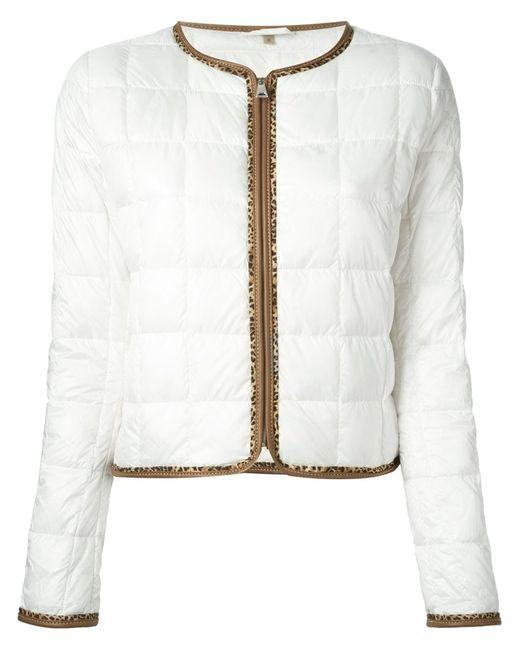 Fay | Женская Белая Стёганая Куртка