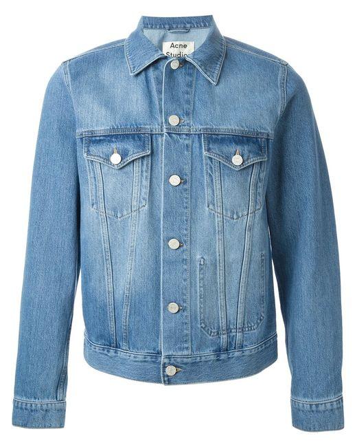 Acne | Мужская Синяя Джинсовая Куртка Jam