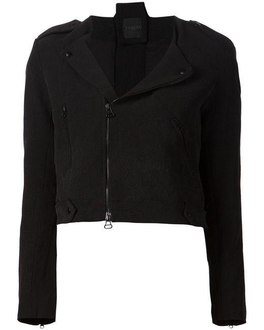 TVSCIA   Женская Чёрная Укороченная Куртка