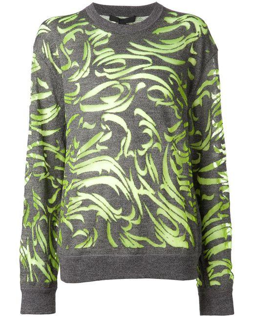 Alexander Wang   Женское Серый Paisley Burnout Pullover Sweater