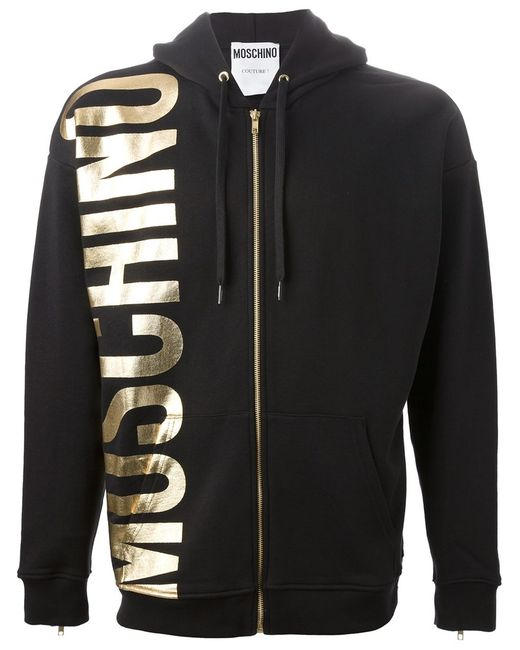 Moschino | Мужское Cotton Hoodie From Featuring A Drawstring Hood