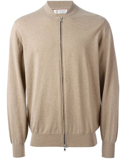 Brunello Cucinelli | Мужское Cotton Zip Front Cardigan From