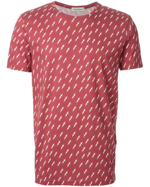 Oliver Spencer | Мужское Красный Cotton Bolt T-Shirt From