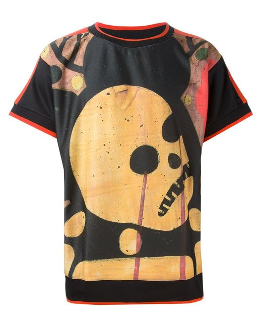 Sibling   Мужское Multicoloured Skull Print T-Shirt From
